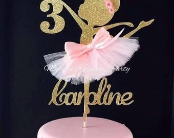 Ballerina Cake Topper - Ballerina Party Decorations - Ballerina Party Decor - Ballerina Party Centerpiece - Ballerina Birthday Party Cake