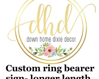 Custom ring bearer sign