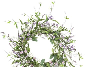 "Lavender Wreath 24"""
