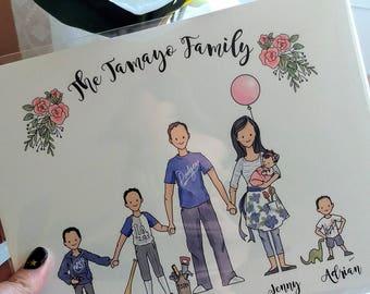 Custom Family Portrait, 6-Person