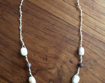 Necklace in White Turquoise