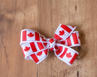READY TO SHIP Canada Day Bow, Canada Day, Canada Day Accessories, Canada Day Party, Canada Bow, Canada Day Hair Bow, Canada 150
