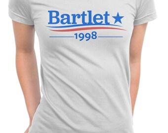 WEST WING Shirt, President BARTLET, Bartlet 1998, Bartlet For America, Jed Bartlet, Vote For Bartlet, West Wing Shirt, Unisex Men & Women