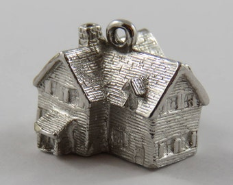 Green Gables Farm House P.E.I. Sterling Silver Vintage Charm For Bracelet