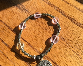 Reflecting Tree of Life Diffuser Bracelet