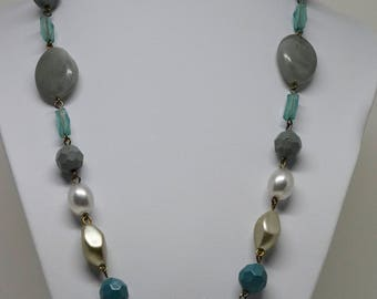 Lovely Soft color Beaded Necklace