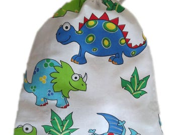Bag pouch Tote, pajamas, blanket, ranks dinos