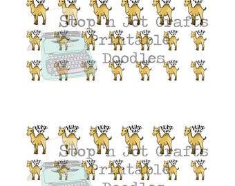 Hump Day Printable Stickers