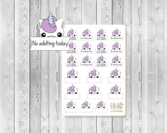 S001 - 21 Unicorn Planner Stickers