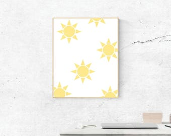 Sunshine Print, Sunshine Art, Sunshine Print, Digital Download, Sunshine Wall Art, Wall Prints, Printable Art
