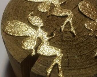 15 Fairy die cuts, Fairy Confetti, Glitter Gold Fairy, Fairy party decoration, Fairy theme birthday, Fairy cut outs