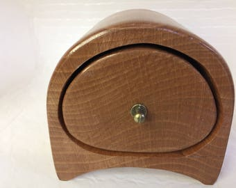 A lovely rustic wooden trinket / jewellery box hand made