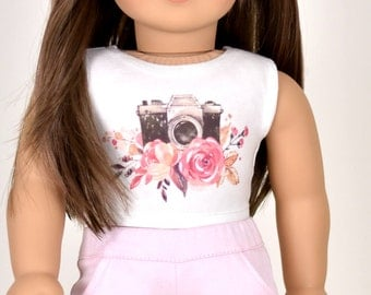 Graphic top 18 inch doll clothes