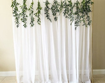 Wedding Backdrop Stand Ceremony Winter Gold