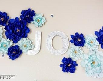 Nursery paper peonies , decoration, Summer,Spring, paper flowers, nursery decoration