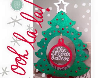 Personalised Christmas Bauble Tree by Duck Duck Goose