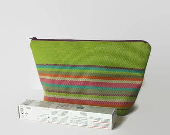Toilet bag Green and multicolor woman