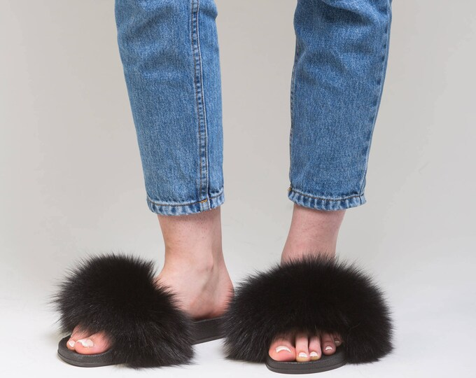 Fox Fur Slippers,Fur Slippers F801