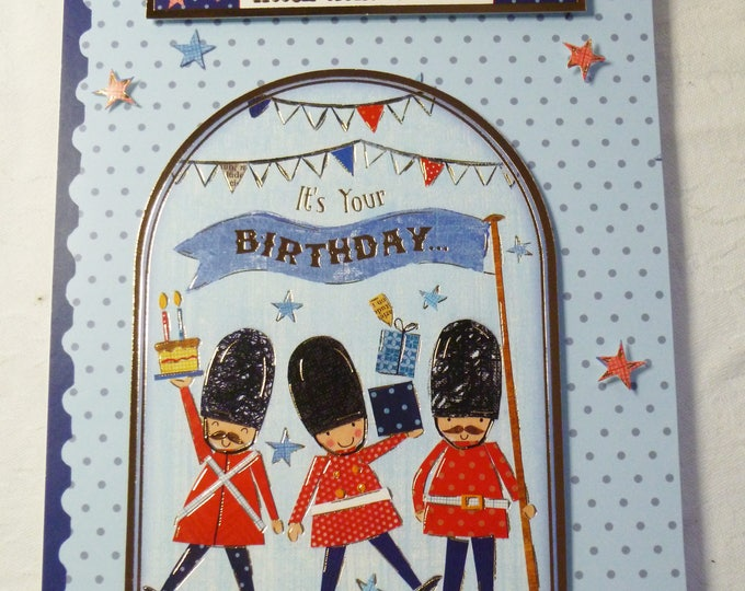 Toy Soldiers, Birthday Card, Greeting Card, Soldiers on Parade, Marching Soldiers, Boy, Any Age, Son, Brother, Grandson, Nephew,
