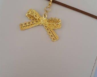 Gold Bow Charm / Travelers Notebook Charm / Erin Condren Charm / TN Charm / Planner Charm / Midori Charm / Zipper Charm / Purse Charm