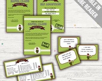 Elf Letter Kit. Editable. Printable. Instant Download.