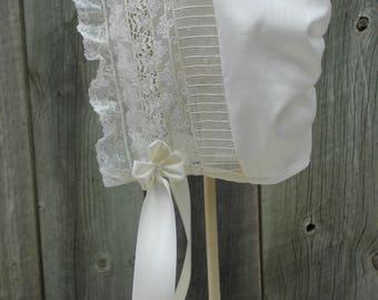 Baby Bonnet - Heirloom Style -Sz 12-18 mo.