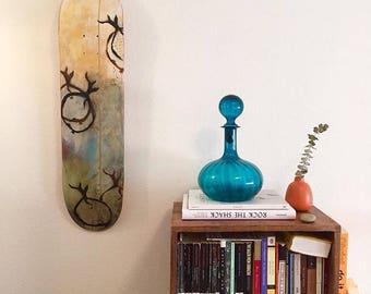 Custom Skateboard Art Wall Gift - skateboard wall art painting, skateboard gift, paint skateboard, gift idea, for him for her, holiday wood