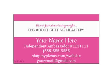 Plexus Slim Business Card