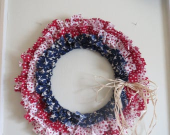 Americana Rag Wreath