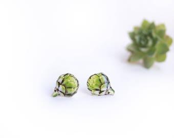 Artichoke earrings Artichoke lover gift Plant earrings Vegan jewelry Plants jewelry Woodland earrings Vegan earrings Nature earrings