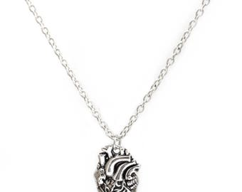 Anatomical Heart Necklace - Anatomisches Herz Anhänger Biology Medicine Student Geek Nerd by Serebra Jewelry