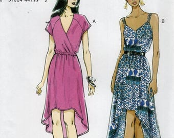 Free Us Ship Sewing Pattern Vogue 8870 Pullover Dress Shaped Hem Size 4/14 16/26 Bust 29 30 31 32 34 36 38 40 42 44 46 48 Plus New