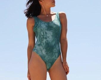 Vintage boho blue one piece swimwear.size 42