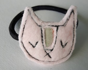 This hair tie pink kitten for child or adult, accessory for hair