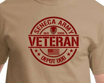Seneca Army Depot Veteran t shirts/Dept Dog