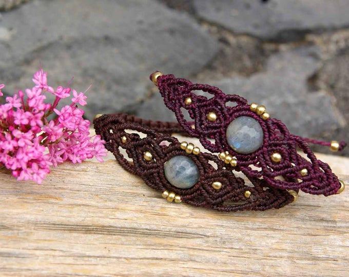 Macrame Bracelet with labradorite, friendship bracelet, amulet stone, fairy bracelet, fairy bracelet, nickel free, free shipping