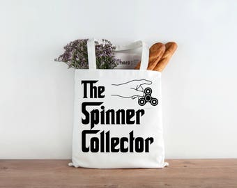 The Spinner Collector, Lesson Bag, Funny Teacher Tote, Lesson Plan Tote, School Tote