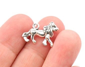 8 Pcs Dog Charms Antique Silver Tone 2 Sided 20x14mm - YD2176