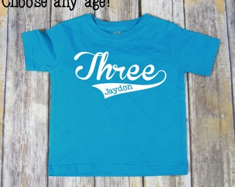 Birthday Shirt, Baseball Birthday Shirt, Birthday Shirt 3, Boys Birthday Shirt, Boys Birthday, Birthday Shirt Boy, Custom Birthday Shirt