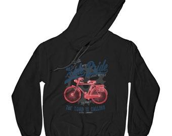Bicycle hoodie ride pride hoodie cyclist hoodie rider hoodie hipster hoodie graphic hoodie aesthetic hoodie blessed hoodie   AP22