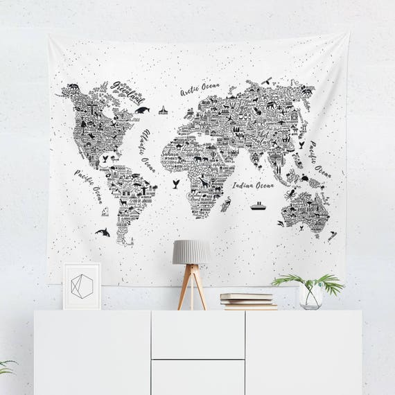 World map tapestry world map wall art dorm tapestry like this item gumiabroncs Images