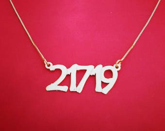 Numbers necklace date necklace po code necklace po necklace long distance necklace long distance friendship gift ID necklace