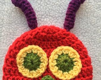 Hungry Caterpillar Inspired Crochet Beanie