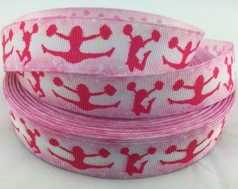 """Cheer ribbons, cheerleading ribbons, Sports ribbon, Grosgrain Ribbon. Available in 7/8""""  grosgrain ribbons"""
