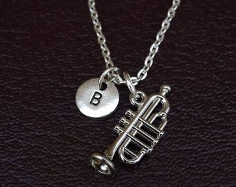 Trumpet Necklace, Trumpet Charm, Trumpet Pendant, Trumpet Jewelry, Trumpet Gifts, Trumpet Girl, Trumpet Players, Marching Band Necklace