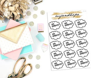 No Spend Week | TT14 | Teeny Tiny Planner Stickers