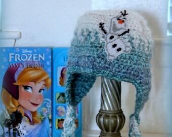 Girls Olaf hat// kids Frozen Olaf hat// Girl soft Olaf hat// Back to School warm hats//