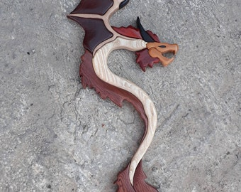 DRAGON INTARSİA   wall decor home docor