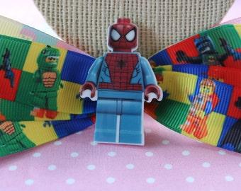 Spiderman Lego Hair Bow