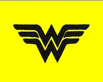 Wonder Women Embroidery Design Logo - perfect for baby onesie -  pes, hus, vip, xxx, exp, vip formats 4 x 4